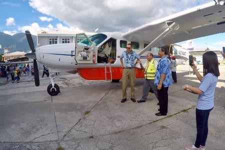 New aircraft, Grand Caravan EX (N71447 = PK-RKD) With Chief Pilot (Eric B. Roberts). Hope always ble